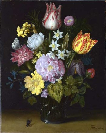 Photograph of a painting by Ambrosius Bosschaert
