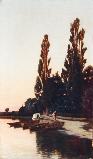 Photograph of a painting by the Irish artist, Augustus Burke