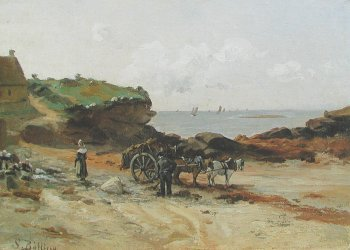 Photograph of a Breton painting by Sigrid Louise Bolling.