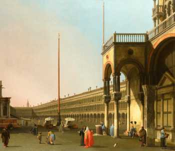 Photograph of a painting by Canaletto.