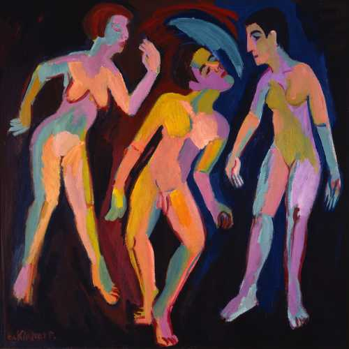 Photograph of a painting by the German Expressionist, Ernst Ludwig Kirchner.