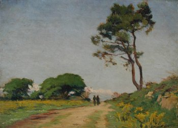 Photograph of a Breton painting by Joseph Milner-Kite.