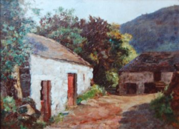 Photograph of a painting by the Irish artist, Nathaniel Hill.