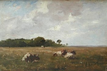 Photograph of a painting by the Irish artist, Nathaniel Hone.
