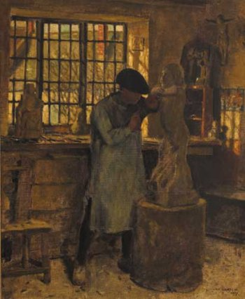 Photograph of a painting by the Irish artist, Norman Garstin