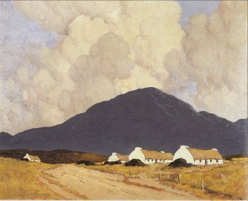 Photograph of a Connemara painting by Paul Henry.