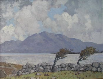 Connemara: Photograph of a painting by the Irish artist, Paul Henry.