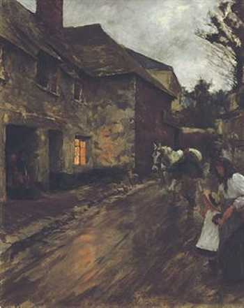 Photograph of a painting by the Irish artist, Stanhope Alexander Forbes